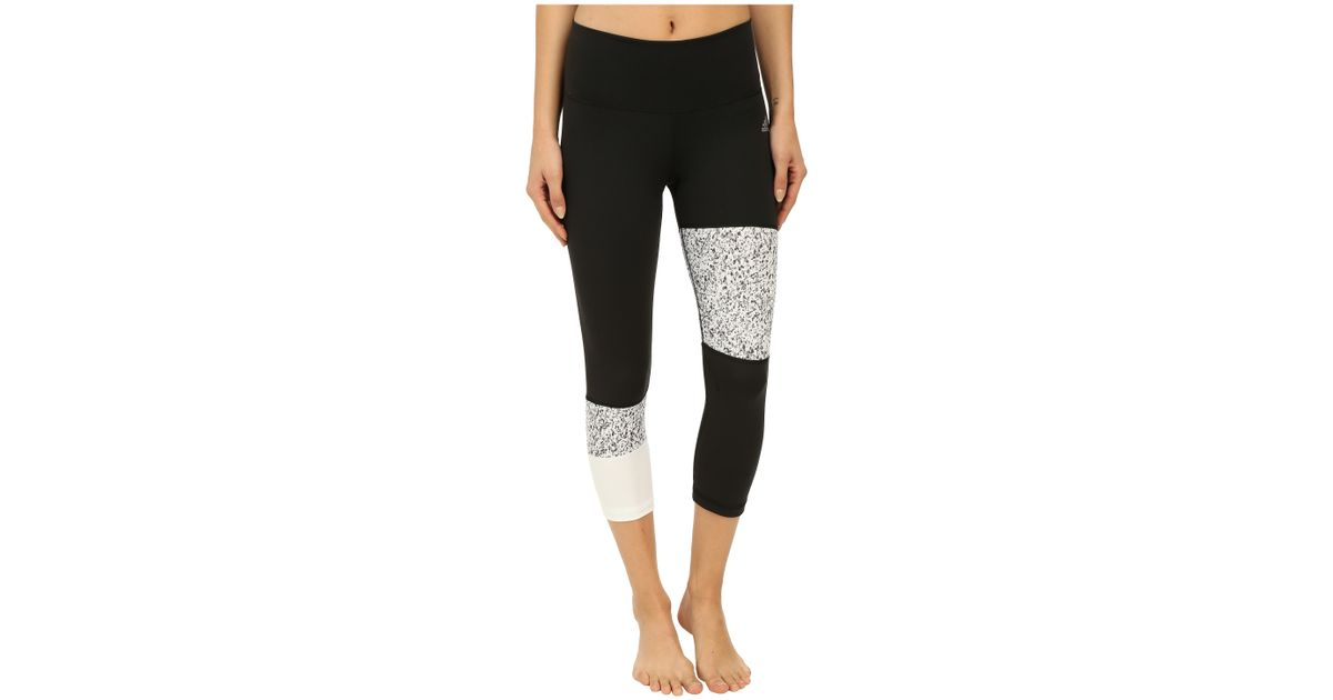 timeless design 3e9fb a3bbe Lyst - adidas Performer Mid Rise 3 4 Tights W  Terrazo Print in White