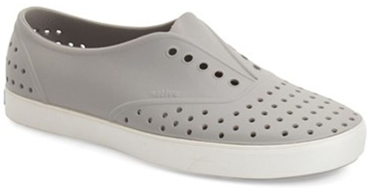 4093a6b15 Native Shoes 'miller' Water Friendly Perforated Slip-on in Gray for Men -  Lyst