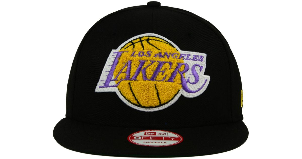 huge selection of 30e98 dc5ae Lyst - KTZ Los Angeles Lakers Letter Man 9fifty Snapback Cap in Black for  Men