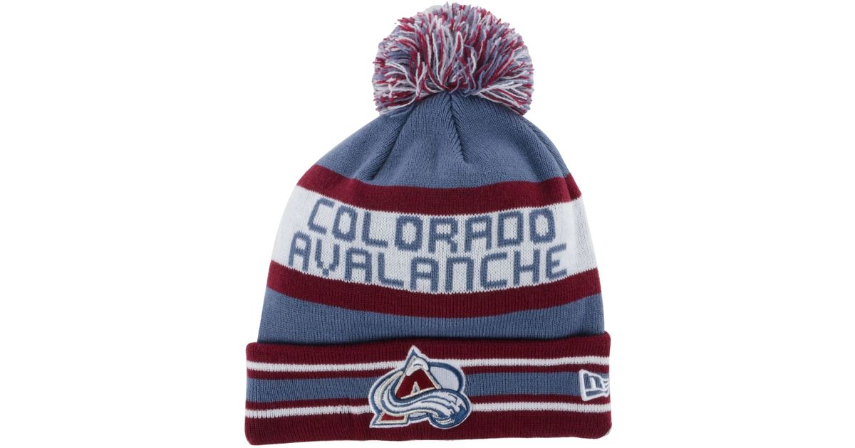 huge selection of 3f8c4 f2d0d KTZ Colorado Avalanche Jake Pom Knit Hat in Blue for Men - Lyst