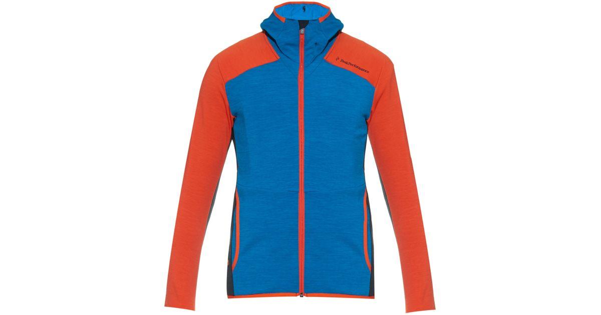 f74bcd7778d Peak Performance Heli Mid-layer Ski Jacket in Blue for Men - Lyst