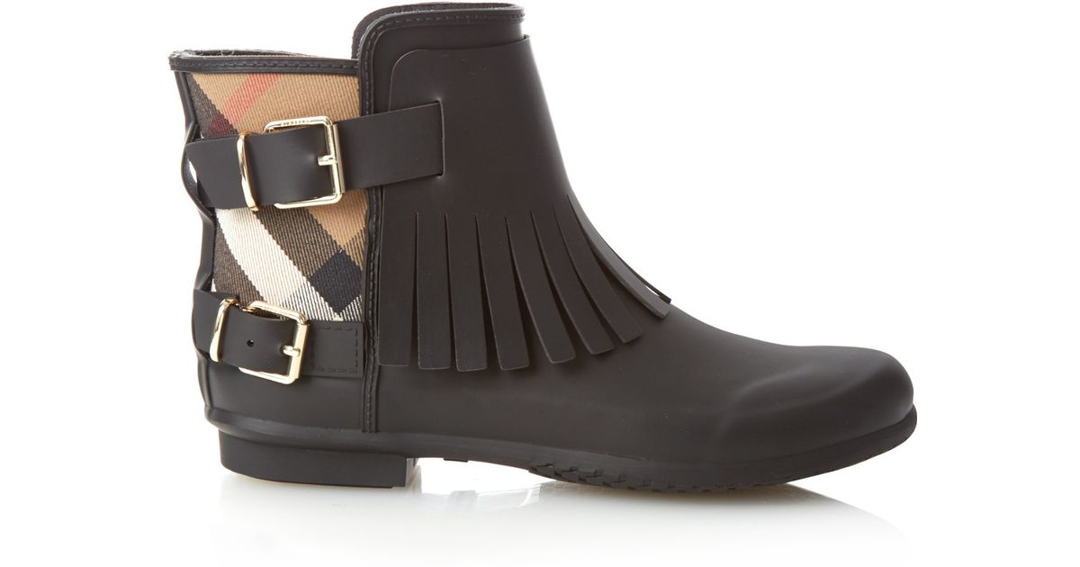 Burberry Fritton Rubber Rainboots In Black Lyst