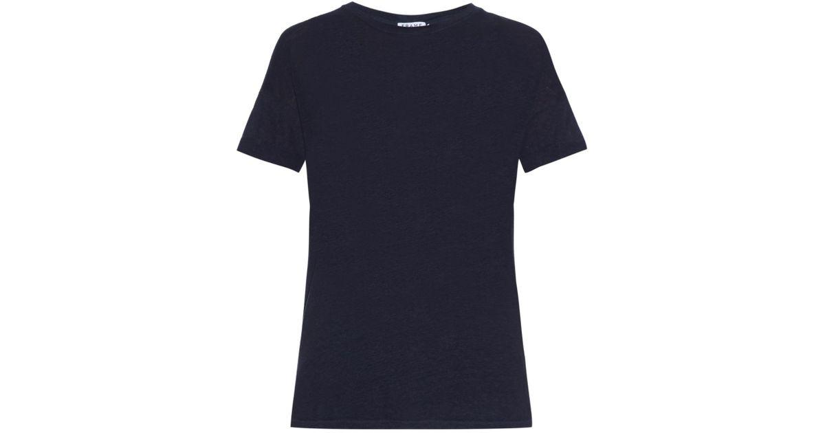 Lyst - Frame Le Boyfriend Linen T-Shirt in Blue