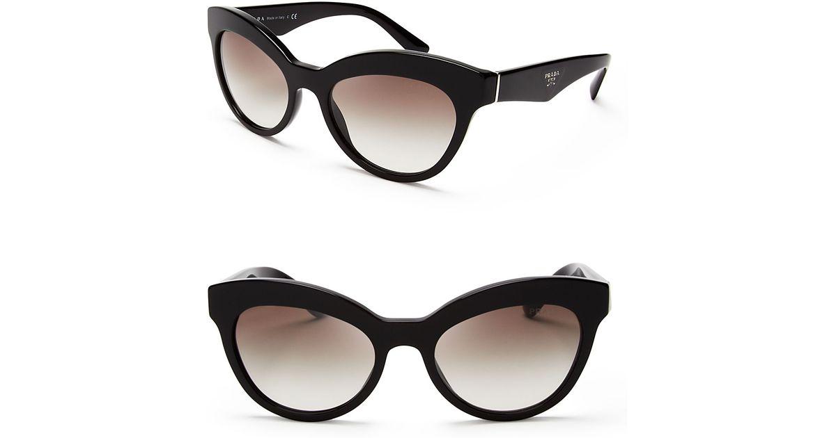 e6a01fc4232 Lyst - Prada Heritage Cat Eye Sunglasses in Black