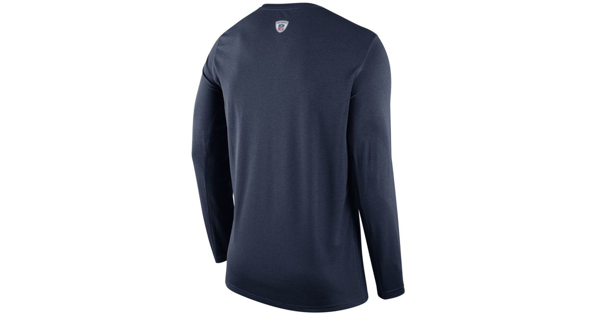 Lyst - Nike Men s Long-sleeve New England Patriots Legend Staff Practice T- shirt in Blue for Men 58fea1bef
