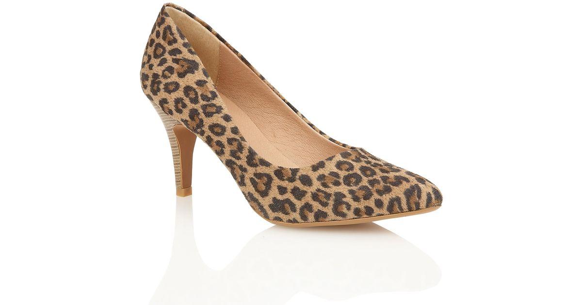 lotus drama high heel court shoes in animal leopard print