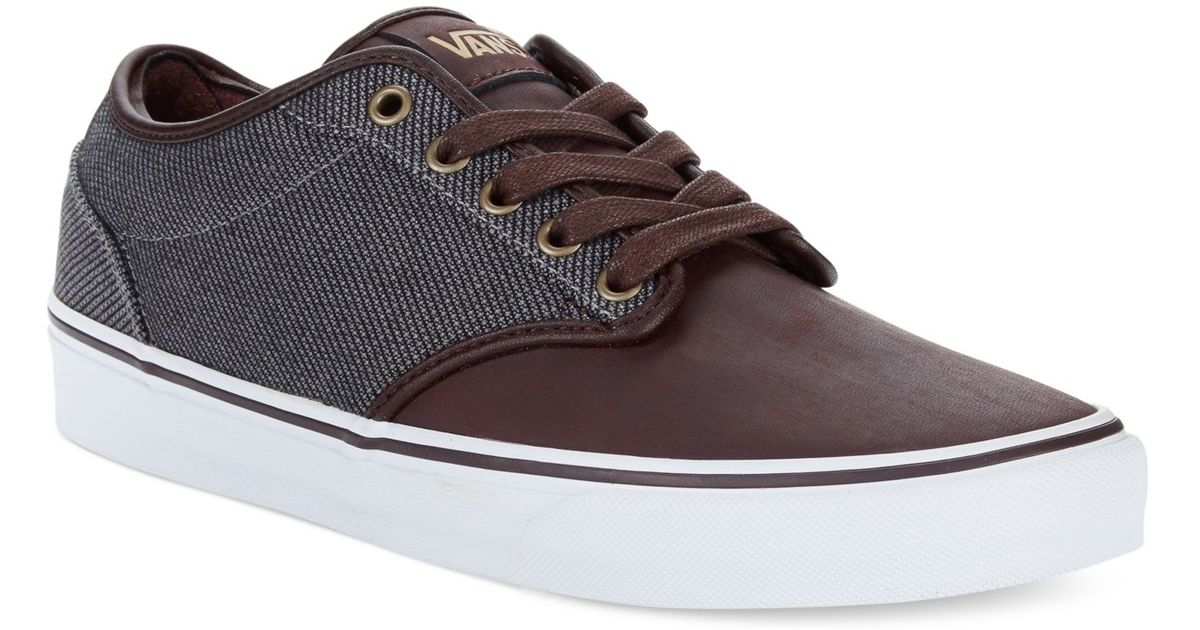 Lyst - Vans Atwood Deluxe Sneakers in Brown for Men a512a733b