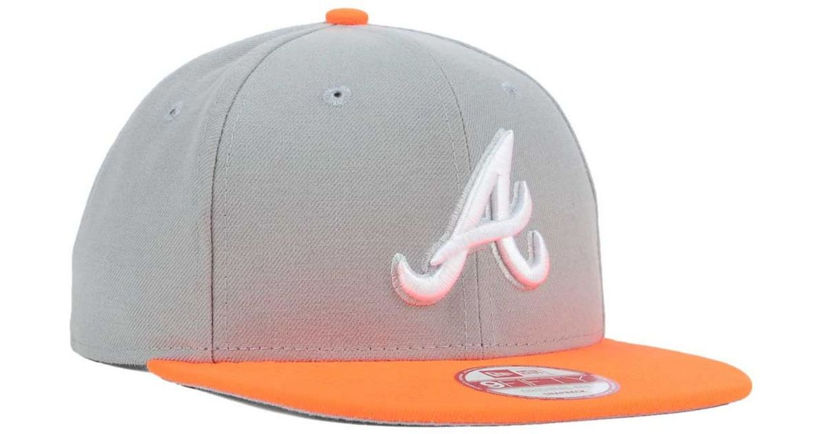 detailed look 2e7fc c9b4b ... discount lyst ktz atlanta braves the queens 9fifty snapback cap in gray  for men da191 c2d99