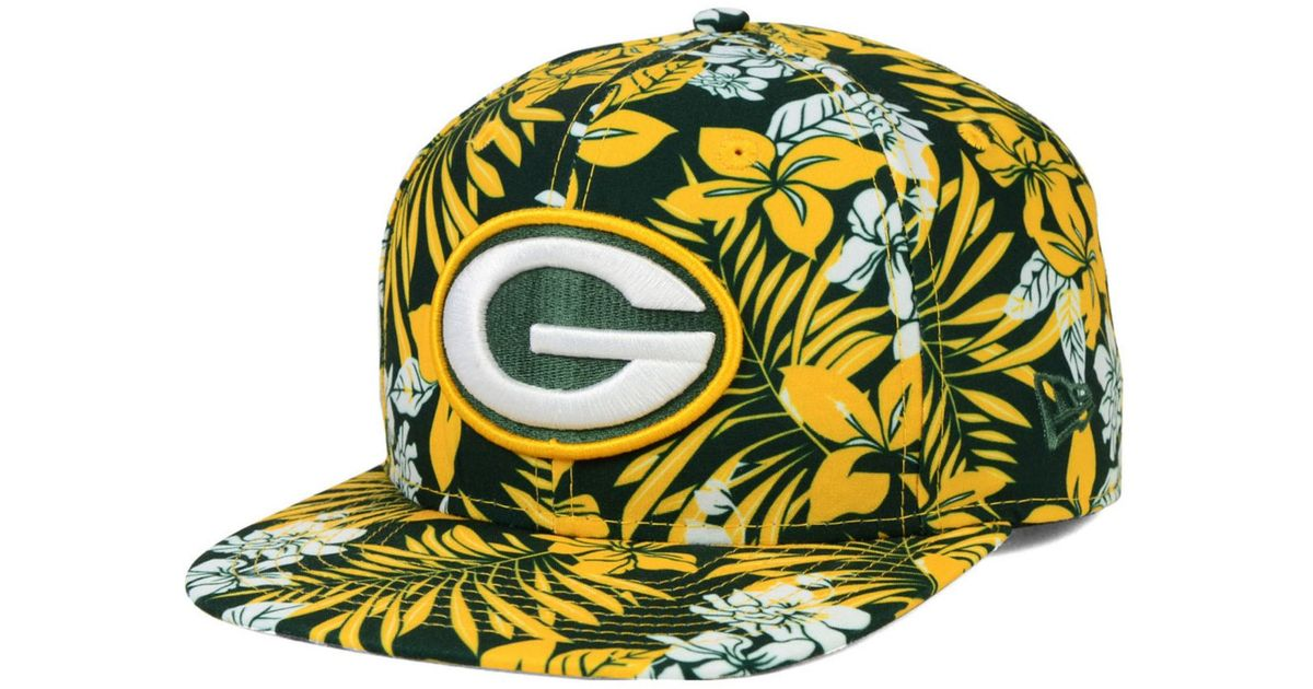 0d01773089fdc KTZ Green Bay Packers Wowie 9Fifty Snapback Cap in Green for Men - Lyst