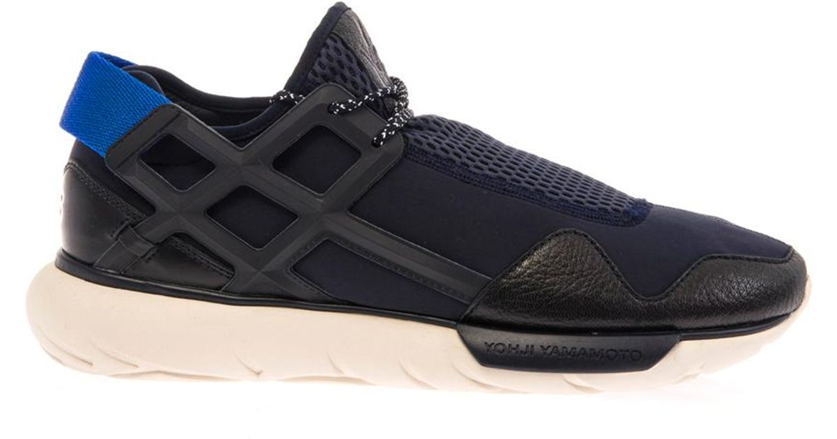 Lyst - Y-3 Qasa Racer Trainers in Blue for Men 3d7fe2456d89