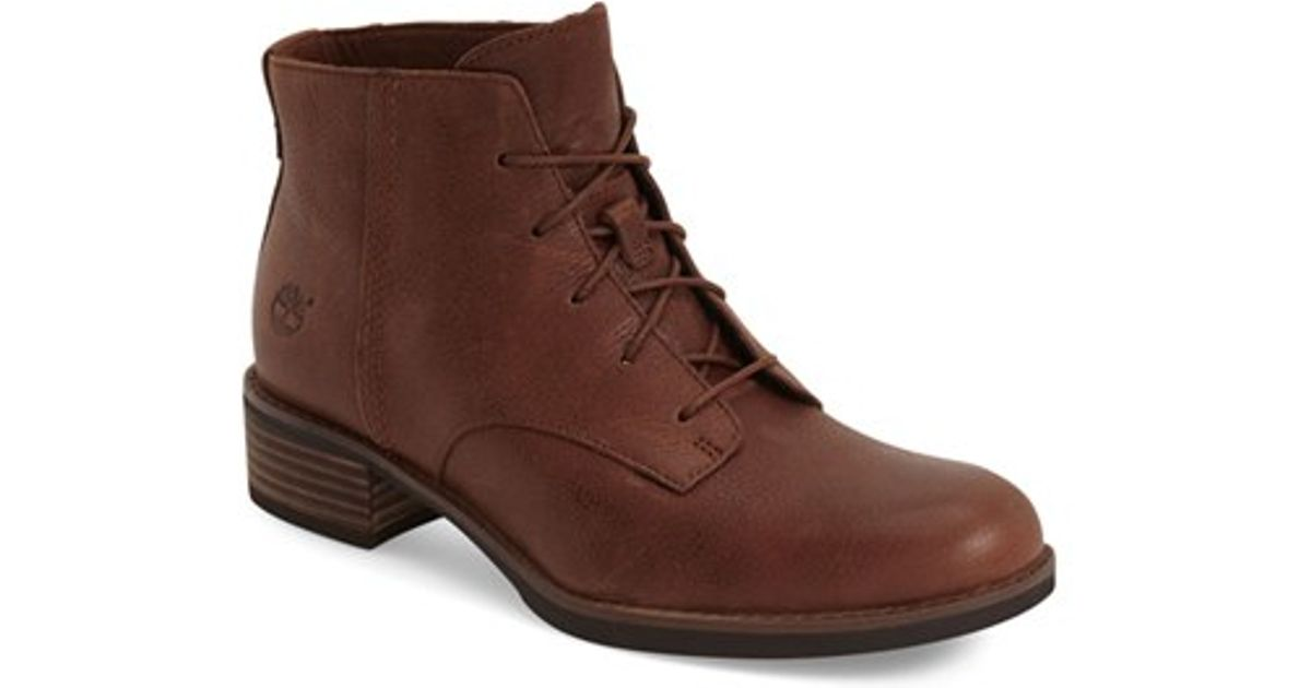 timberland beckwith lace up chukka boot in brown lyst