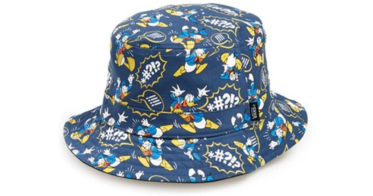 Lyst - Vans   X Disney - Donald Duck  Reversible Bucket Hat fe24b737ec06