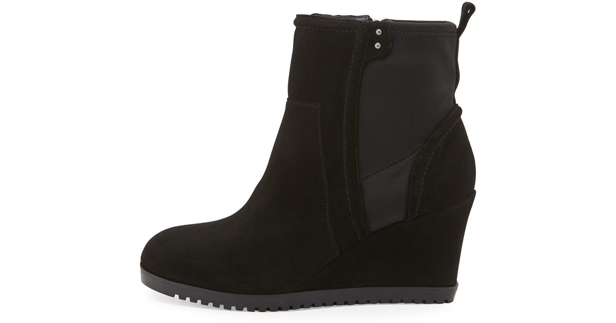 7736e3ae6910 Lyst - Taryn Rose Beula Suede Wedge Boots in Black