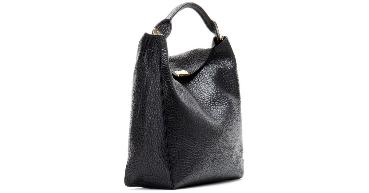 0721f4fcbbe Lyst - Burberry Lindburn Leather Tote in Black