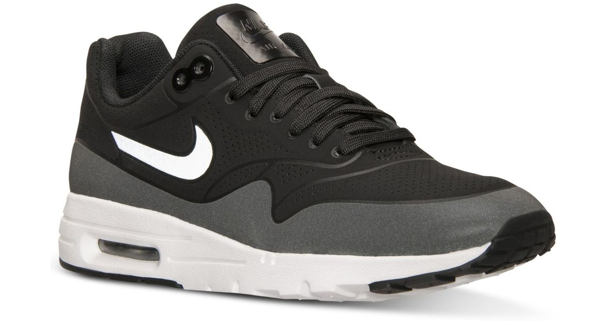 5c360157f69f Lyst - Nike Women s Air Max 1 Ultra Moire Running Sneakers From Finish Line  in Black