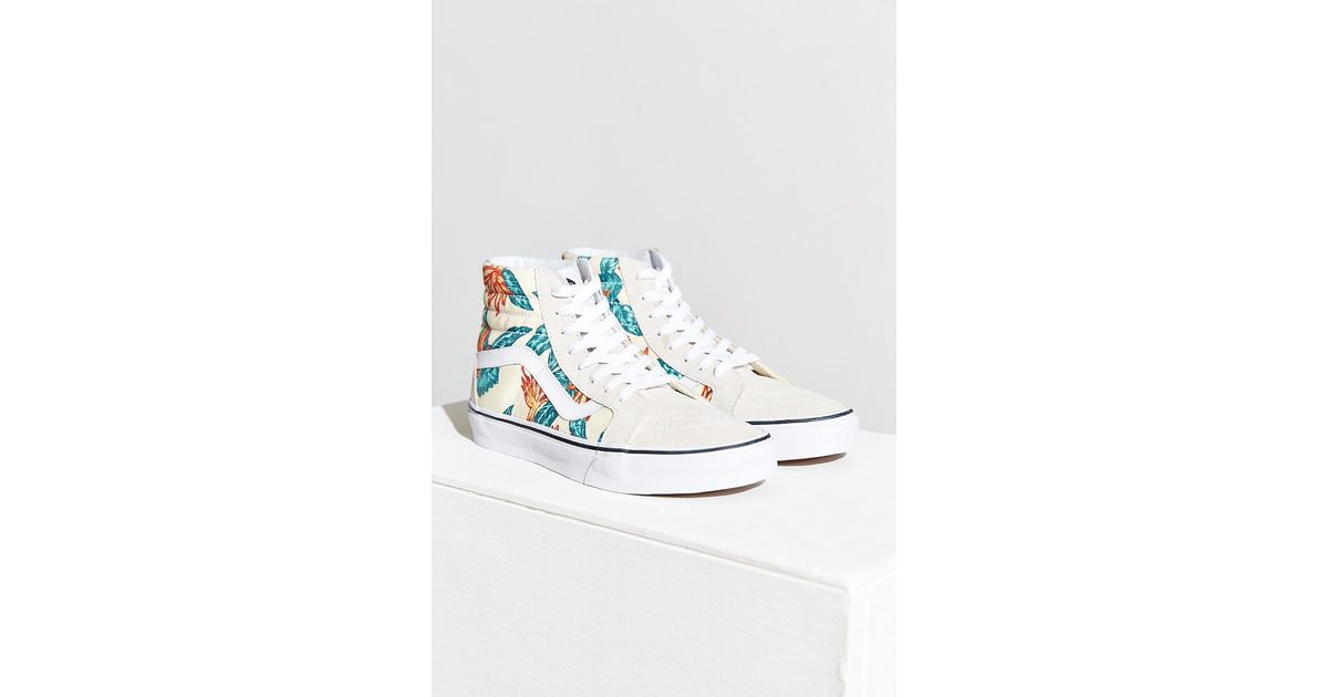 b1e77694b8a Lyst - Urban Outfitters Vans Sk8-Hi Reissue Vintage Aloha Sneaker in White