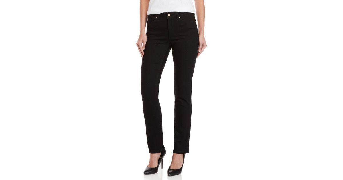 ea3d16e9180 Lyst - Tommy Hilfiger Black Tribeca Straight Skinny Jeans in Black
