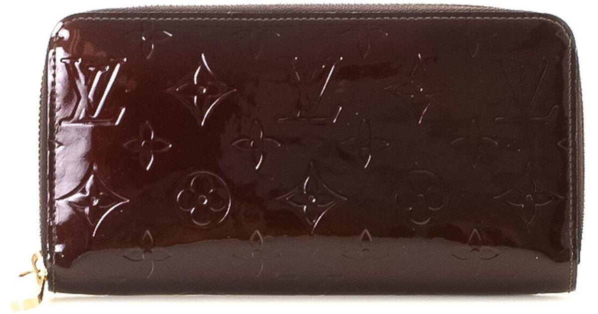 cc3fa93c80bd Lyst - Louis Vuitton Monogram Vernis Zippy Wallet - Vintage in Brown