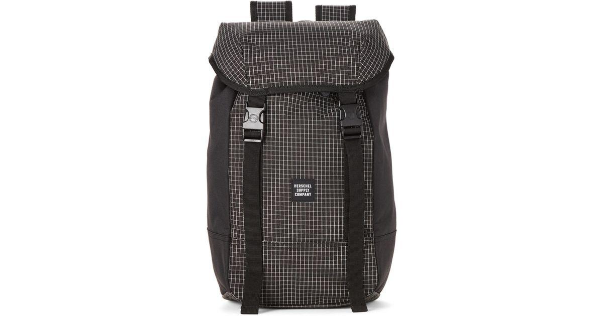 30c15b1cee Lyst - Herschel Supply Co. Black Iona Grid-print Backpack in Black for Men