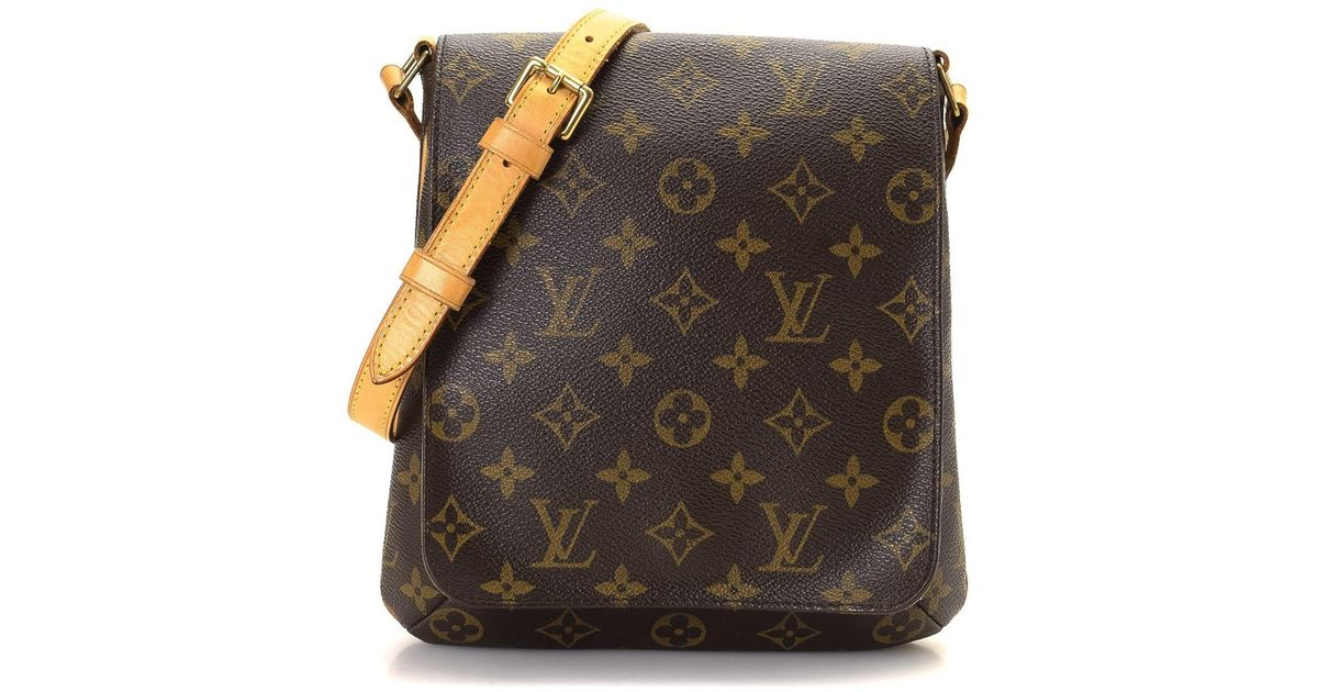 Lyst - Louis Vuitton Musette Salse Long Crossbody Shoulder Bag Monogram  Canvas M51387 in Brown 3e229a99d46d1