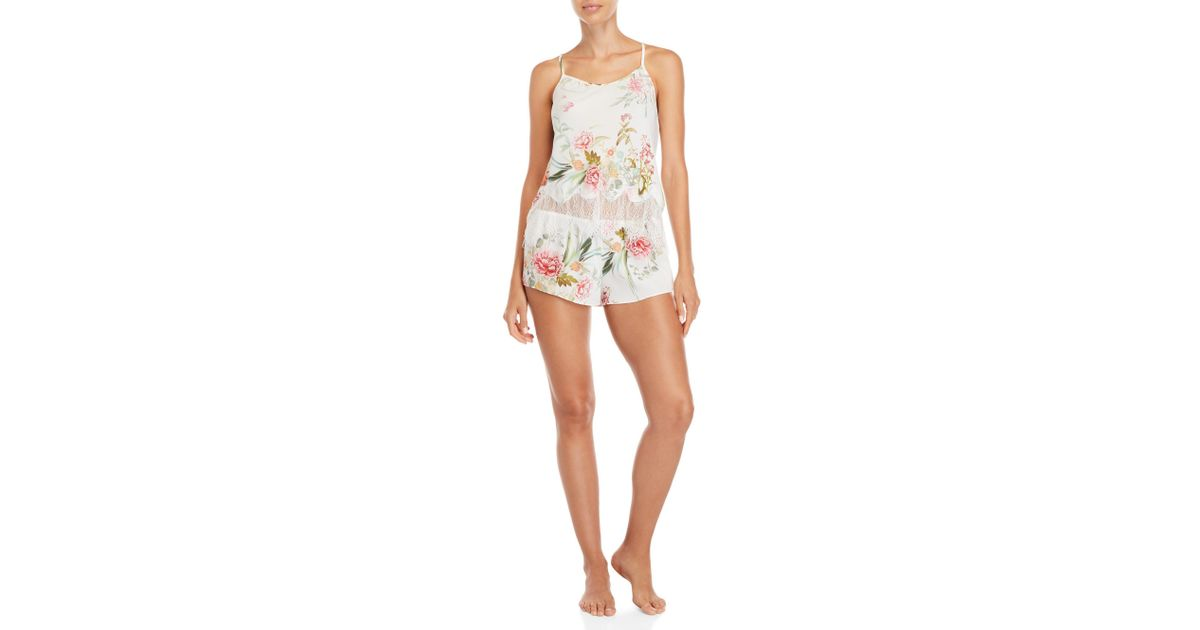 395fbe1dd20f6 Lyst - Flora Nikrooz Two-piece Fiona Camisole   Tap Short Set in White