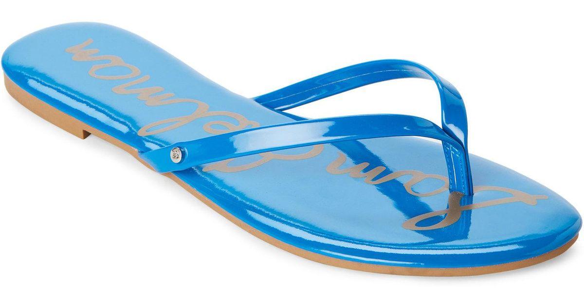 b23a2900f4e4 Lyst - Sam Edelman Aquarian Oliver Flip Flops in Blue