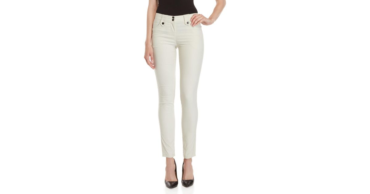 Lyst - Anatomie Sand Skyler Skinny Pants in Natural