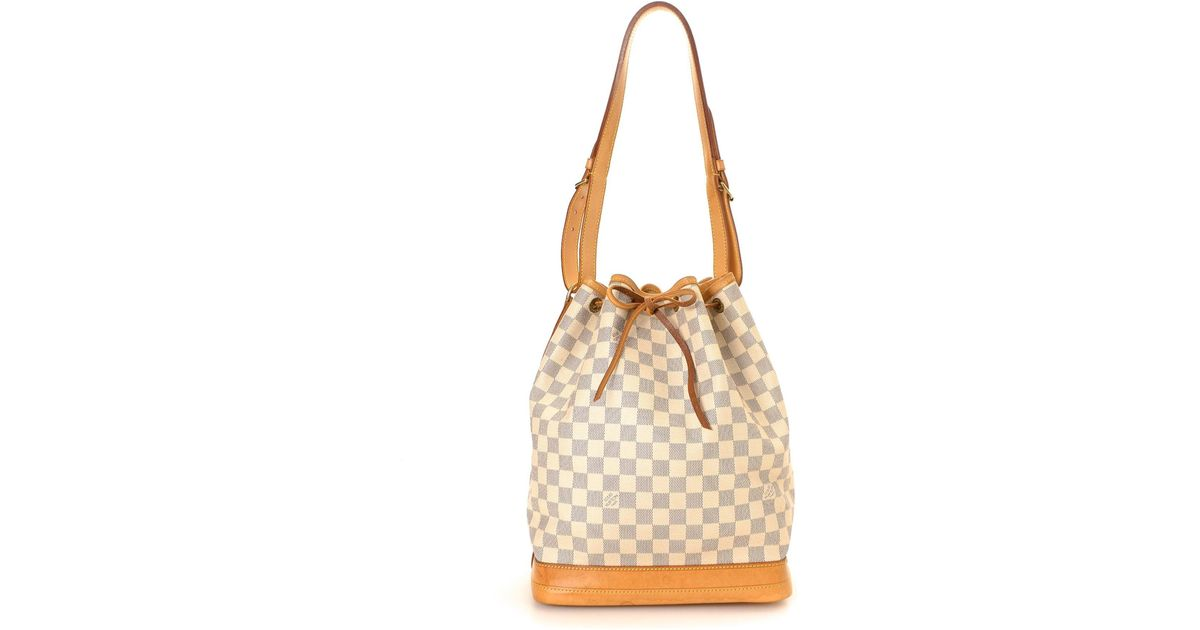 Lyst Louis Vuitton Damier Azur Noe Crossbody Bag Vintage In White