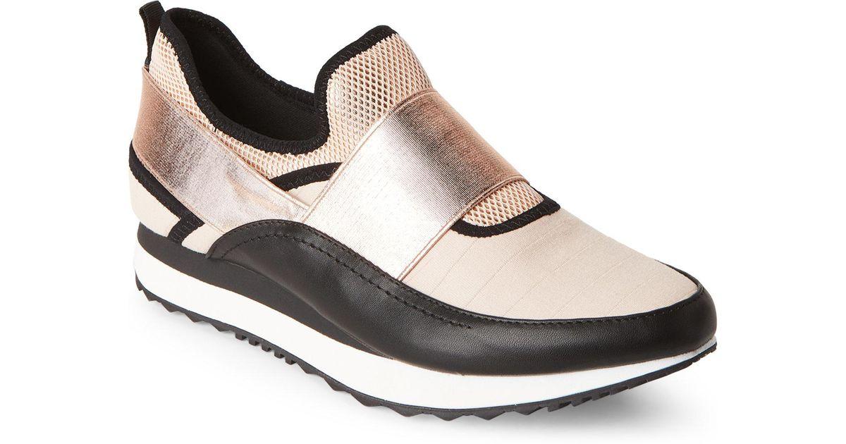 a1dd69b6439e Lyst - Steve Madden Rose Gold   Black Haro Slip-on Sneakers in Black