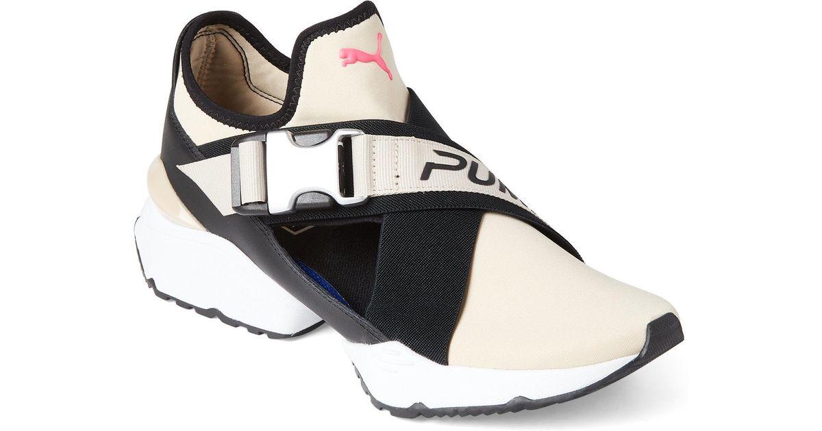 0eabfa4f0257 Lyst - PUMA Cement   Black Muse Eos Buckle Sneakers in Black