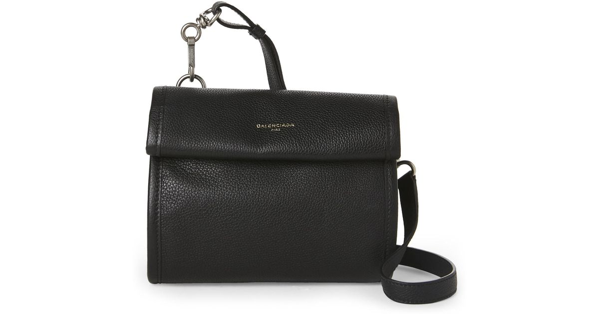 f91d82bec1 Lyst - Balenciaga Black Roll Top Convertible Clutch in Black