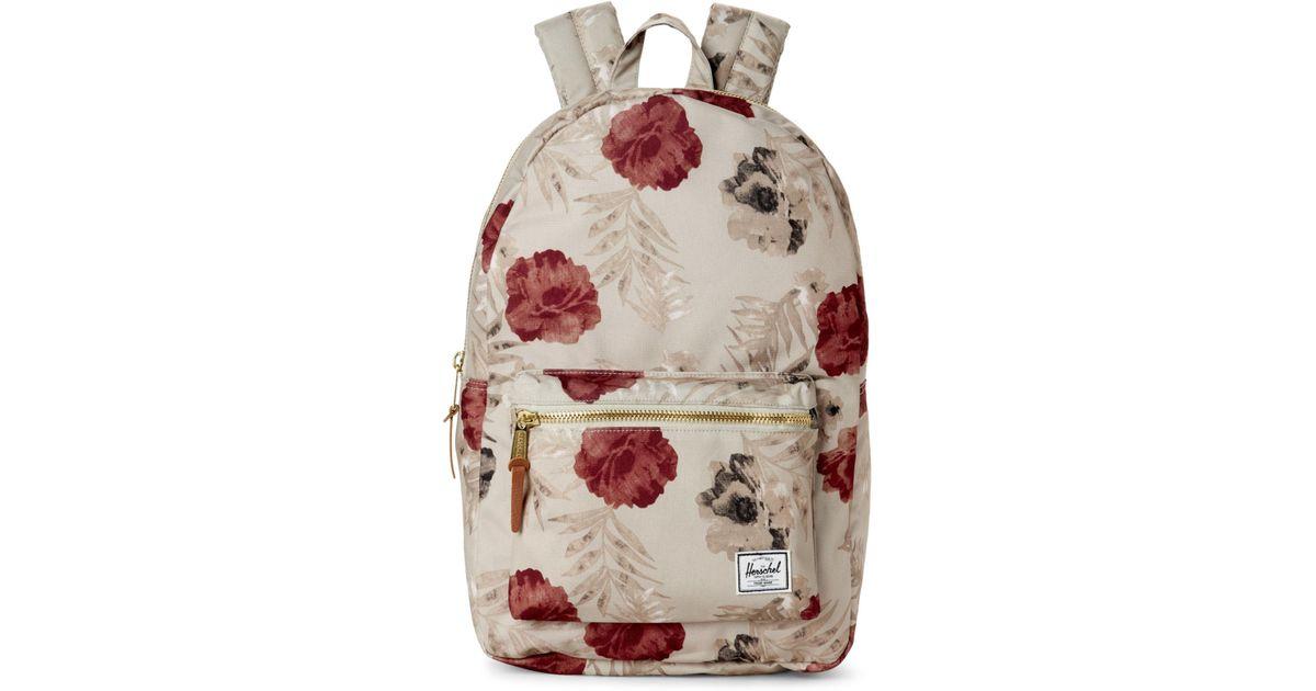 27ac2e91eb0 Lyst - Herschel Supply Co. Settlement Pelican Floral Tan Backpack