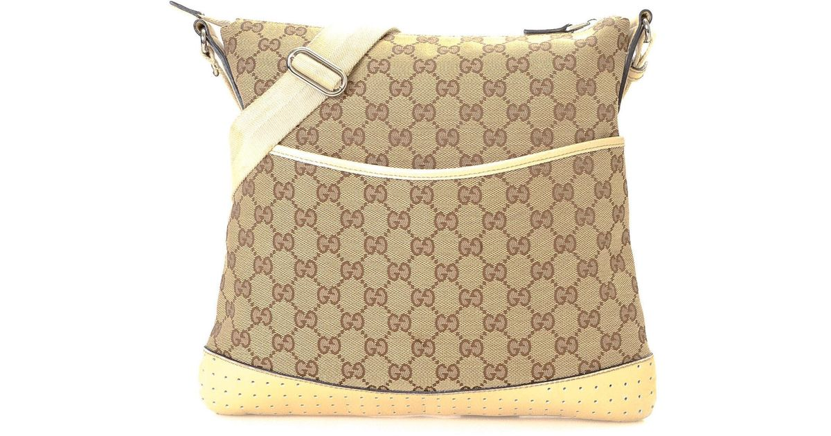 ef1334b434a Lyst - Gucci Canvas Crossbody - Vintage in Natural
