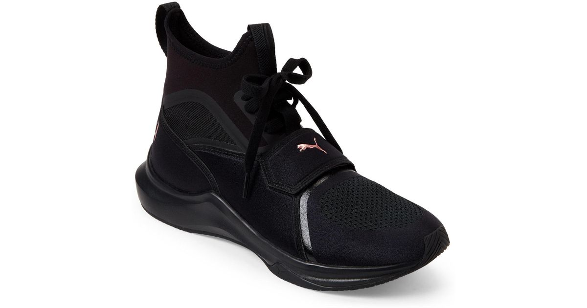 d2afdfc1a0b Lyst - PUMA Black   Rose Gold Phenom Training Sneakers in Black for Men