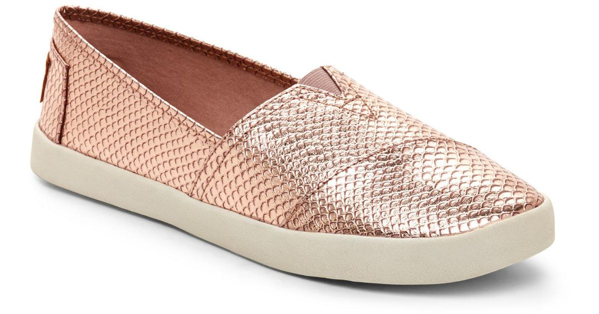 8402dcceee5 Madden Girl Rose Gold Sail Slip On Sneakers in Pink - Lyst