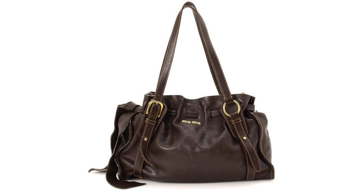 e68f806a893e Lyst - Miu Miu Shoulder Bag - Vintage in Brown