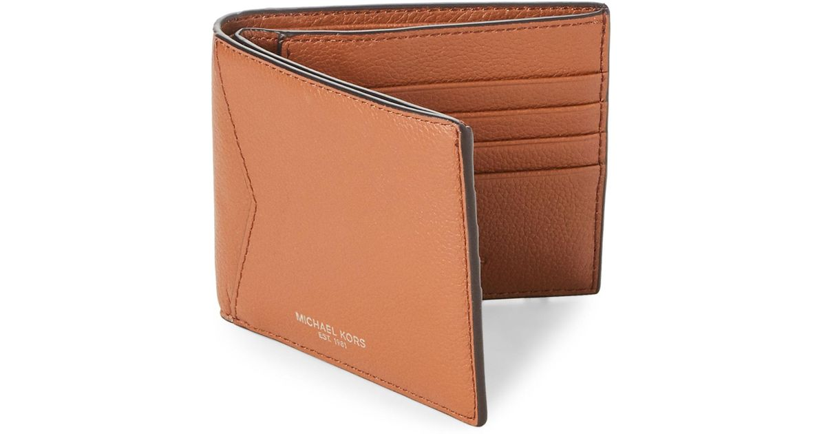 dcf1ff636b9e7 Lyst - Michael Kors Brown Bryant Leather Wallet in Brown for Men