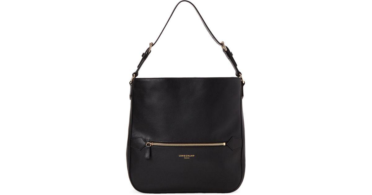 699203234e Longchamp Black 2.0 Leather Shoulder Bag in Black - Lyst