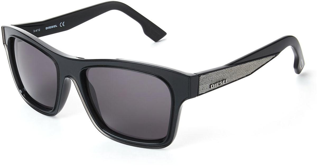 602c654ff3 Lyst - Diesel Black Dl0071 Square Sunglasses in Black