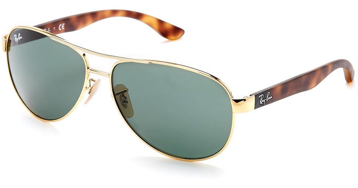 bf3f94bb3f Lyst - Ray-Ban Gold-Tone Rb3457 Aviator Sunglasses