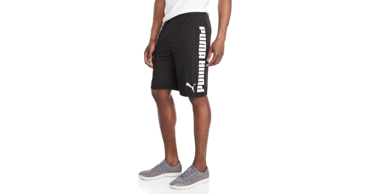 f7a1b2bec63 PUMA Back & Forth Logo Shorts in Black for Men - Lyst