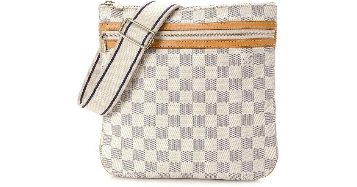 43b42b38ca77d Lyst - Louis Vuitton Crossbody Bag - Vintage in White