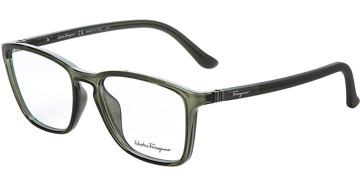 Lyst - Ferragamo Sf2723 Green Wayfarer Optical Frames