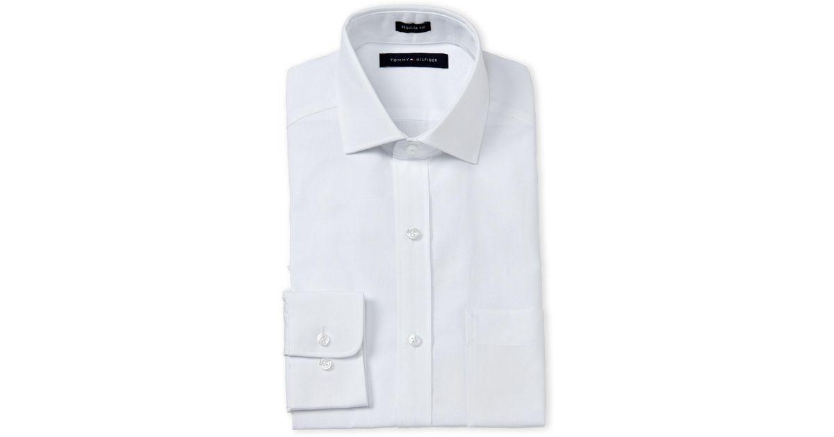 d8de48423 Lyst - Tommy Hilfiger White Linen Regular Fit Dress Shirt in White for Men