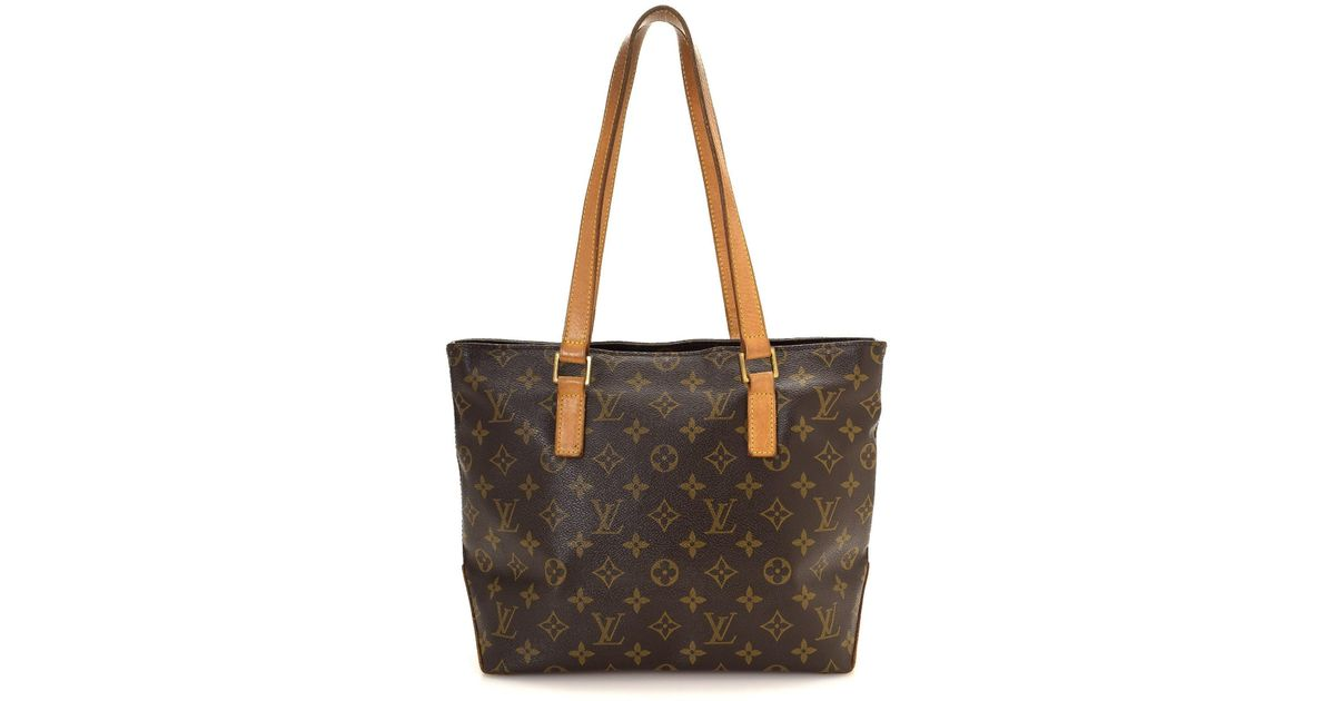 6e0e3fcd2226 Lyst - Louis Vuitton Monogram Cabas Piano Tote Bag - Vintage in Brown