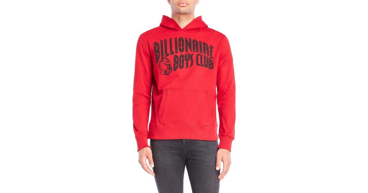 0f6f5da55e1e8e Lyst - Billionaire Boys Club - Ice Cream Arch Graphic Hoodie in Red for Men
