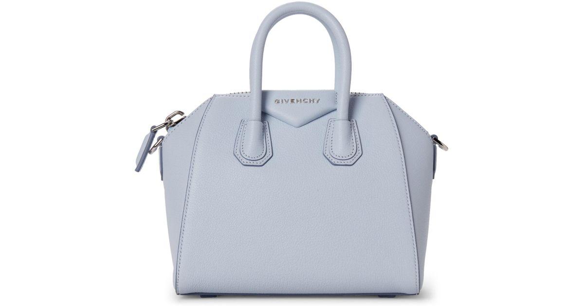 f5a9d6bdaf Lyst - Givenchy Baby Blue Antigona Mini Top Handle Satchel in Blue
