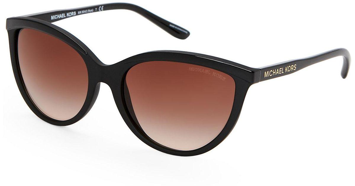 266b7ff2ea7a4 Michael Kors Mk 6042 Black Nya Cat Eye Sunglasses - Lyst