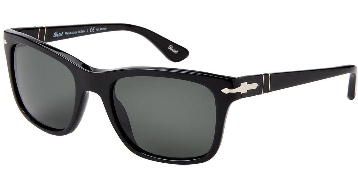 52b488b116b44 Persol Po3135 Black Rectangle Sunglasses in Black for Men - Lyst