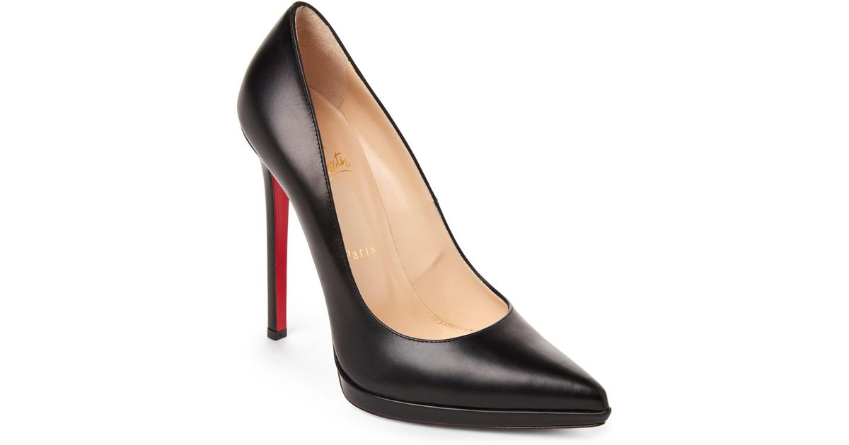 dfde62138571 Lyst - Christian Louboutin Pigalle Plato Pointed Toe Pumps in Black